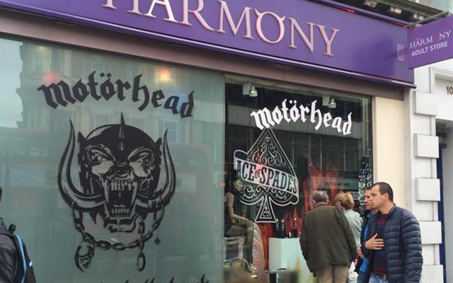 Motorhead vibes rock Oxford Street