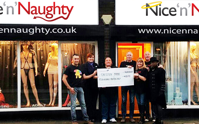 Nice 'n' Naughty have electrifying time at Chester Pride