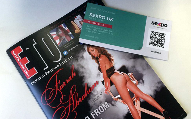 Free admission to Sexpo UK for ETO readers