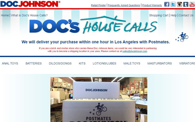 Doc Johnson now makes house calls in LA