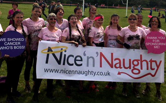 Nice 'n' Naughty gets Pretty Muddy and raises over £2,300 for cancer charity