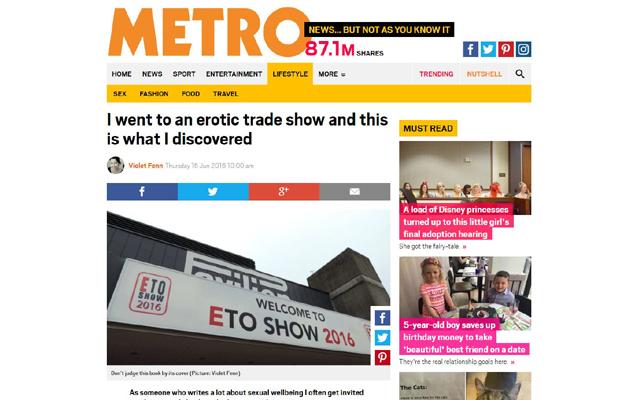 ETO Show exhibitors star in Metro