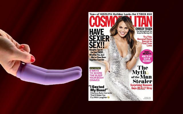 Wet For Her features in December Cosmopolitan
