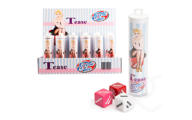 Roll play: Tease Erotic Dice now available from Give Pleasure Products