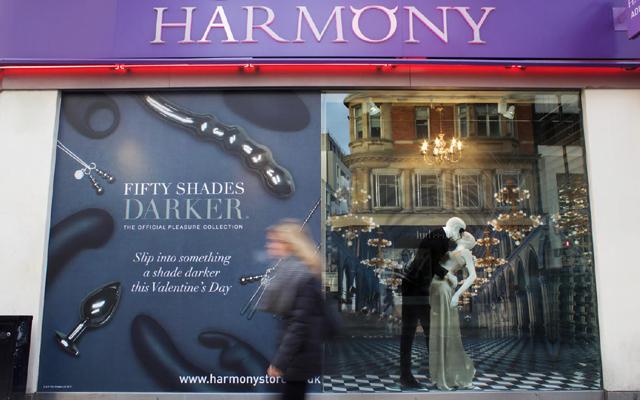 Darker window display results in increased footfall at Harmony