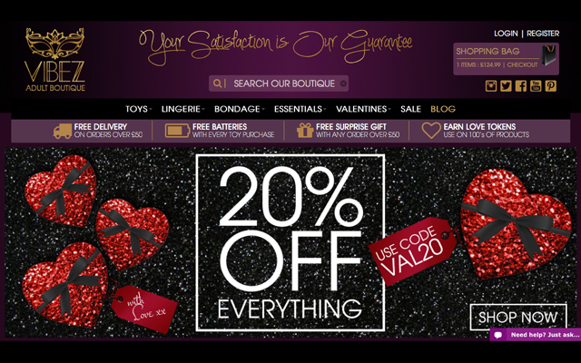 Valentine's Day launch for Vibez new online store
