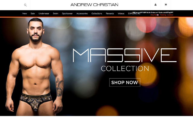 Sir Richard's partners with Andrew Christian for Pride month