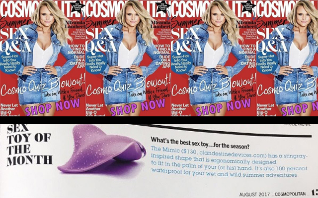 Award-winning Mimic chosen as Cosmopolitan's Sex Toy of the Month