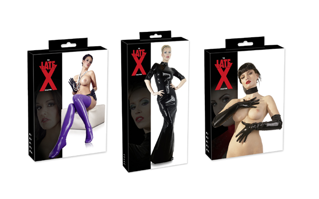 LateX news just in: new packaging for Orion's fetishwear
