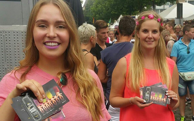Pjur promotes Back Door at Cologne's CSD event