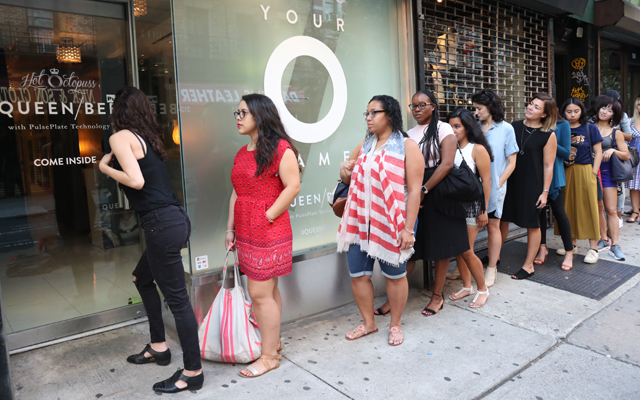 Bee and queue in NYC: crowds flock to Hot Octopuss Queen Bee launch