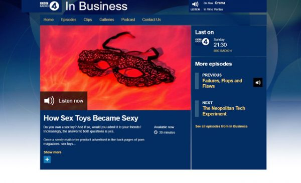 Doc Johnson featured on BBC Radio 4's In Business series