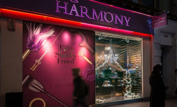 Fifty Shades window results in sales boost on Oxford Street