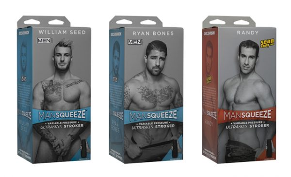 Male order: new Man Squeeze trio from Doc Johnson now available at Scala