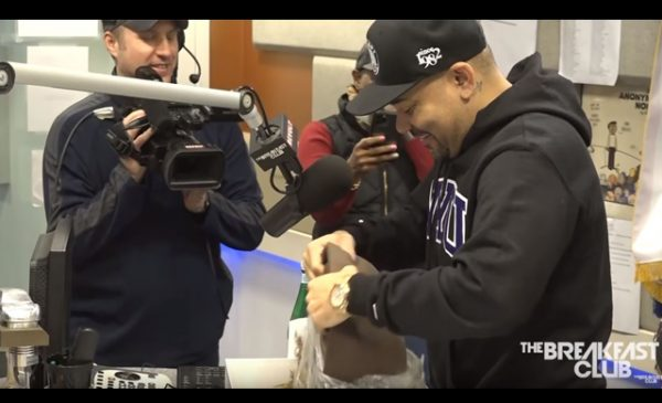 The Breakfast Club's DJ Envy surprised by co-host's butt, courtesy of Doc Johnson