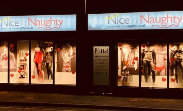 The art of seduction: Nice 'n' Naughty commissions bespoke art for Valentine window